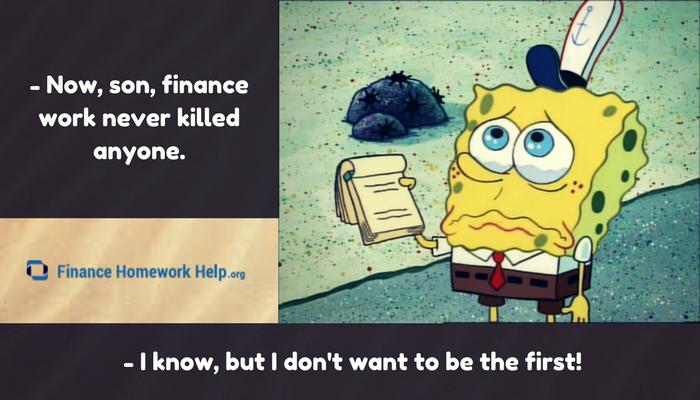 finance assignment joke