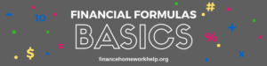 financial formulas basics