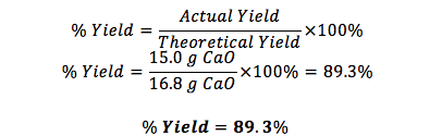 formula to calculate yield