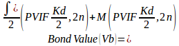 Bond valuation models with semi-annual coupons