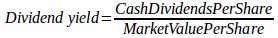 divident yield formula