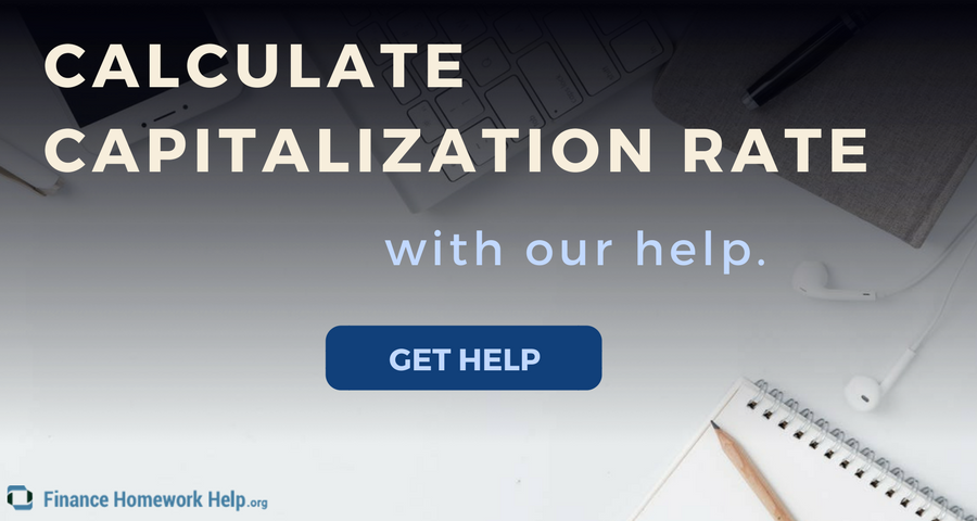 how to calculate capitalization rate solution