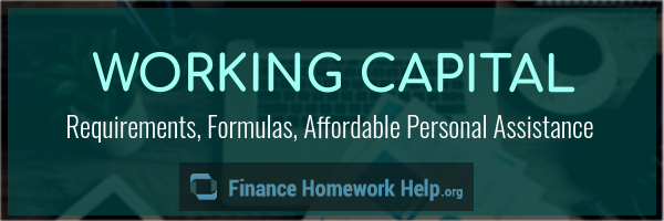 financing working capital requirements services