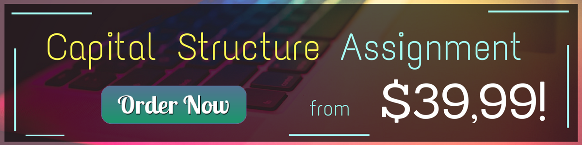 capital structure homework help