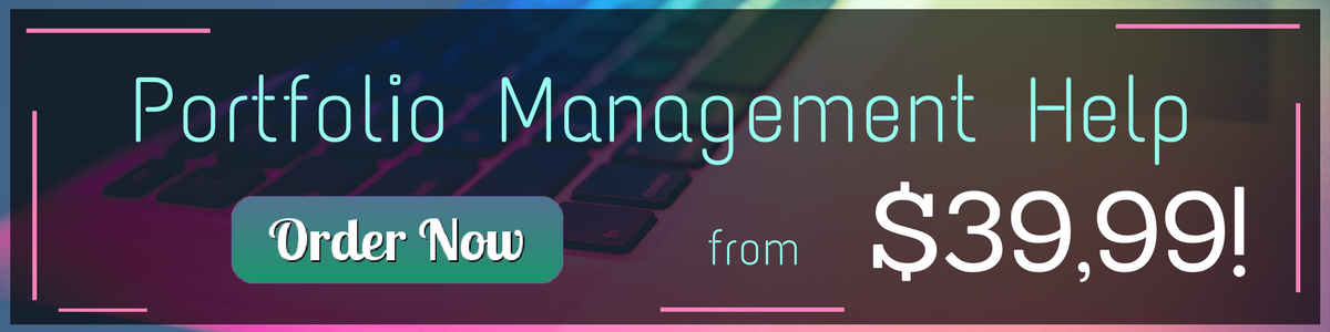 help with portfolio management