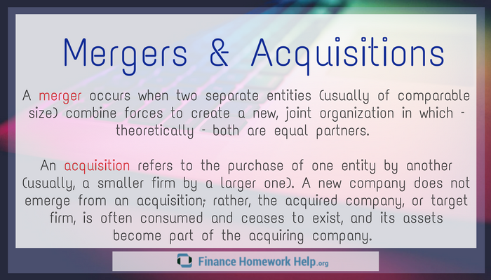mergers and acquisitions definition and difference